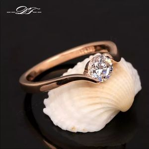 Jewelry - *18k rose gold Austrian CZ diamond ring